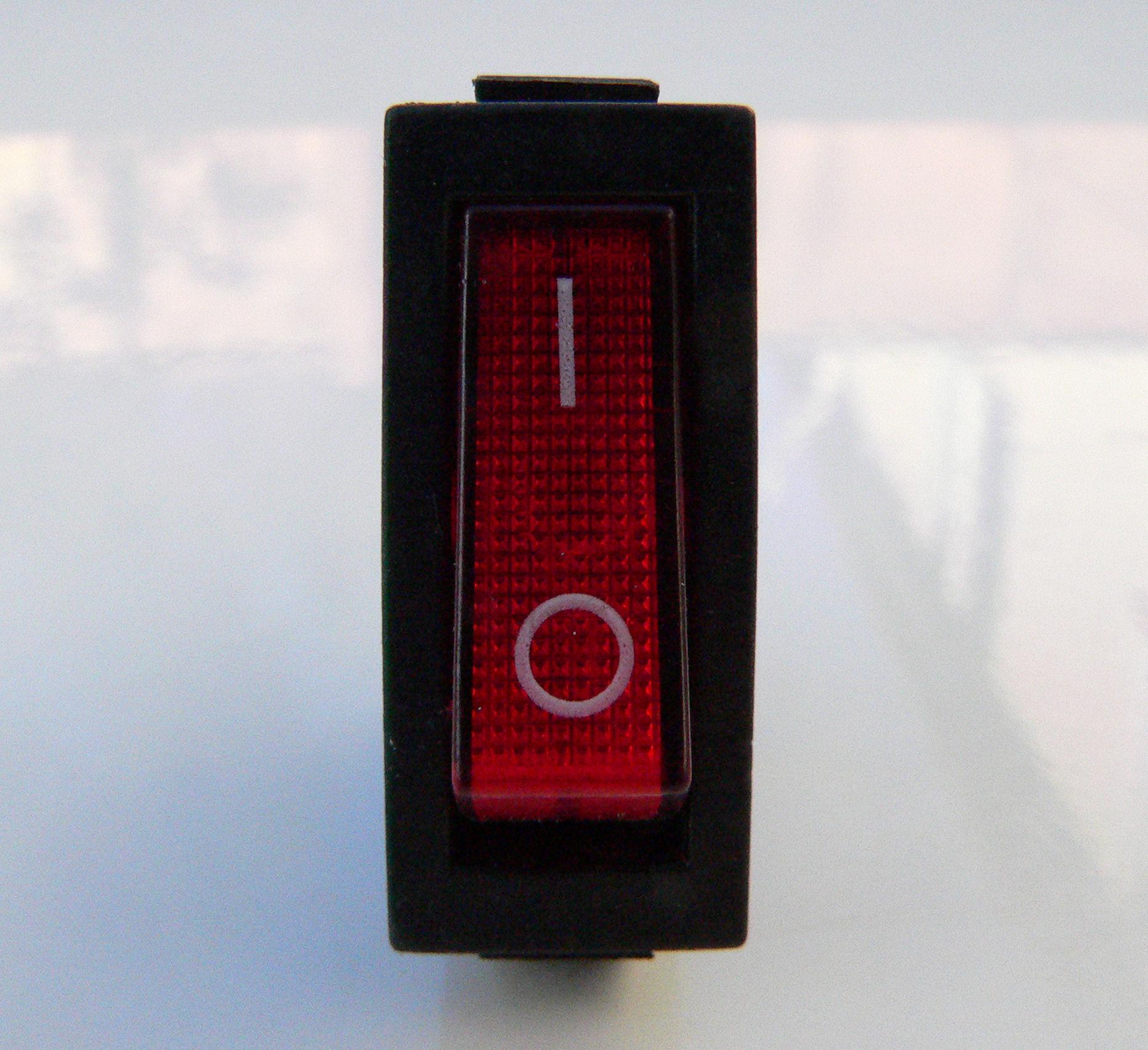 Rot Neon Strom Schalter für Gitarren Verstärker SPST Einpoliger | eBay