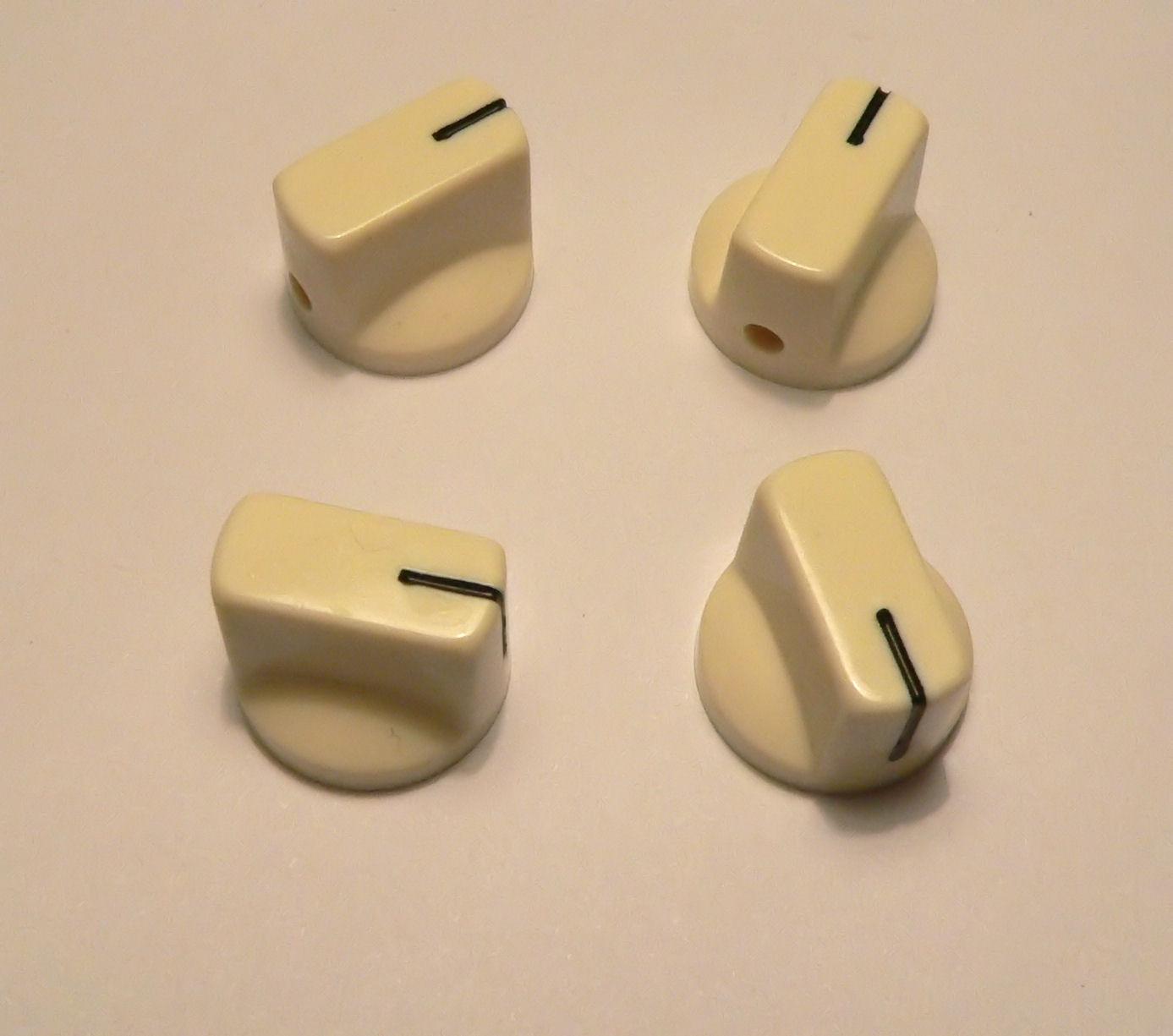 small cream knobs set of 4 for valve radio amplifier or guitar pedal knob ebay. Black Bedroom Furniture Sets. Home Design Ideas