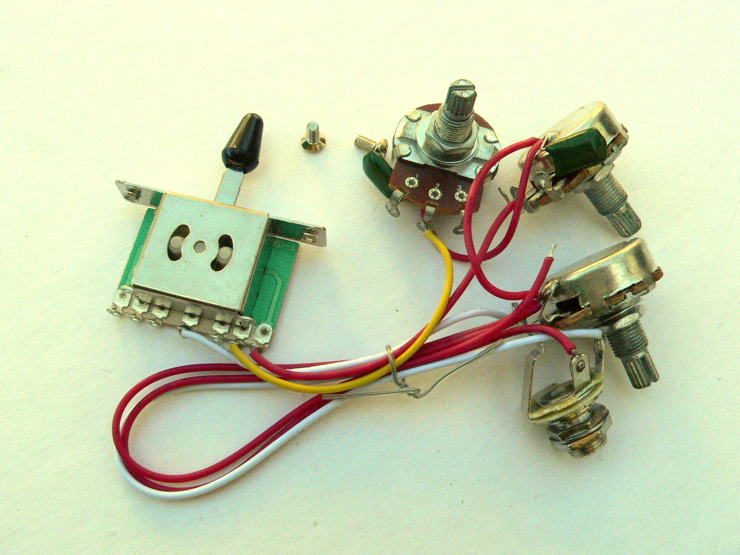 24mm 5 Way Wiring Harness Kit For Fender Stratocaster Guitar Single American Categorie