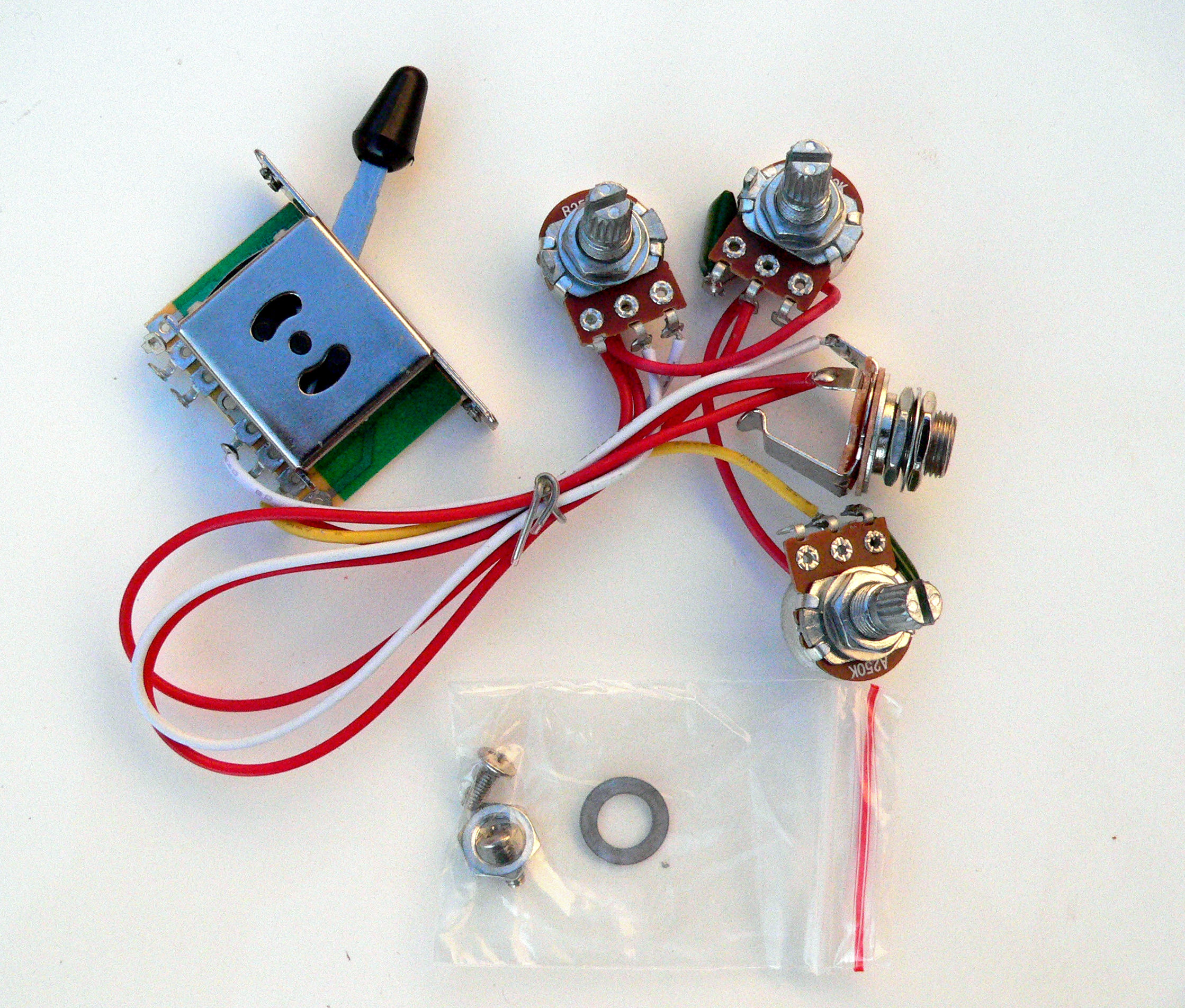 Details about 250K 5 way Wiring Harness for Fender Stratocaster guitar on